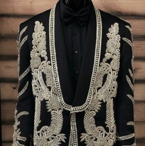 Other - Men's Black Crystal Embroidered Tuxedo